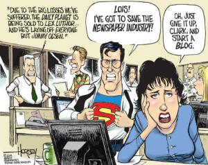 Superman in the newsroom