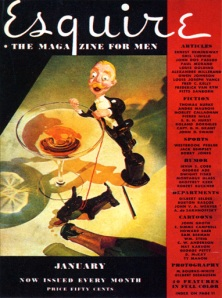 January 1934 cover of Esquire Magazine