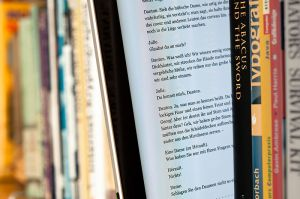 An ebook in a print book library