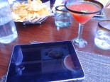 The iPad menu at Temazcal Tequila Cantina