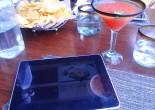 The iPad menu at Temazcal Tequila Cantina