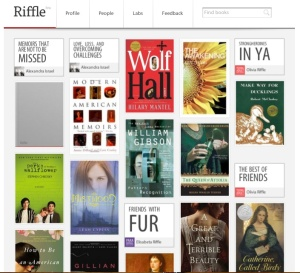 A screen shot of Claire's personal Riffle homepage