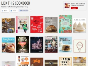"""Screen shot of the """"Lick this cookbook"""" Riffle book list"""