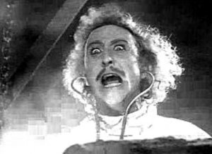 It's alive! shot from Young Frankenstein movie
